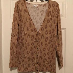 Old Navy leopard print cardigan